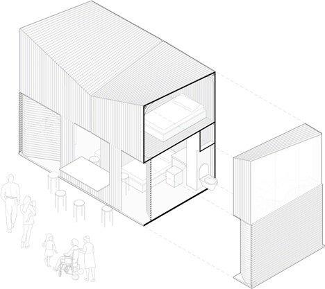 20140516 165422 ชุมชนบ้านขนาดเล็กจากไม้ไผ่ ภายในอาคารโรงงานเก่า..แก้ปัญหาที่อยู่อาศัยชั่วคราว