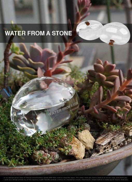 20140524 213104 77464868 ให้น้ำต้นไม้แบบประหยัดน้ำ..จากก้อนน้ำใสๆ..แนวZen..