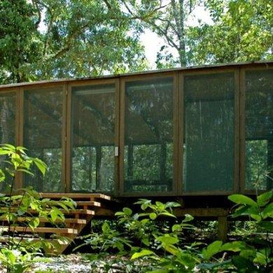 บ้านในป่าร้อนชื้น โปร่งโล่ง กันแมลงแต่ไม่กั้นลม แสงสว่าง และธรรมชาติ 26 - คอนกรีต