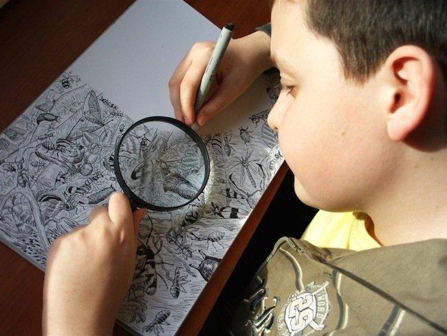 ศิลปินเด็กอายุ11ปี สร้างผลงานชีวิตสัตว์ที่เต็มไปด้วยรายละเอียด 13 - PEOPLE