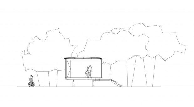 image3 650x361 บ้านในป่าร้อนชื้น โปร่งโล่ง กันแมลงแต่ไม่กั้นลม แสงสว่าง และธรรมชาติ