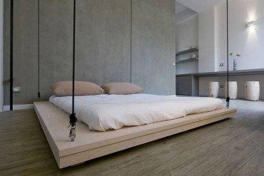 เตียงประหยัดพื้นที่..เลื่อนเก็บบนเพดานเมื่อไม่ใช้ 16 - เตียง