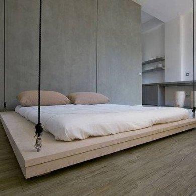 เตียงประหยัดพื้นที่..เลื่อนเก็บบนเพดานเมื่อไม่ใช้ 14 - เตียง