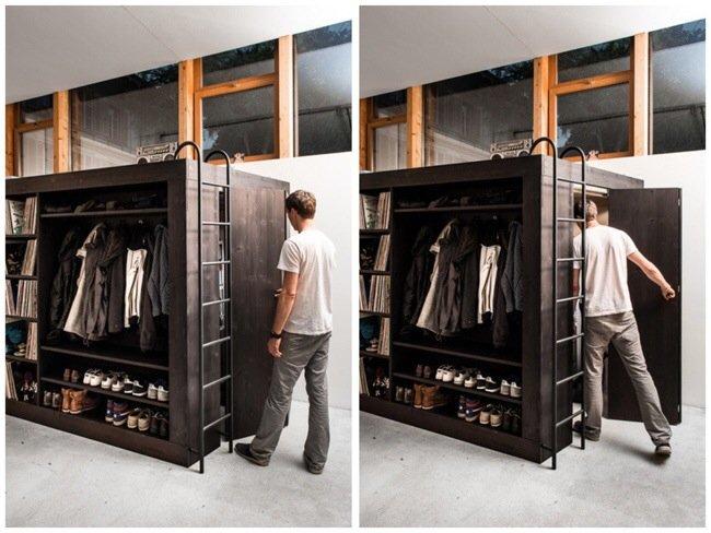 เฟอร์นิเจอร์กล่อง..มีครบทั้งตู้ เตียง ชั้นวางของ ห้องเก็บของ รวมอยู่ในชิ้นเดียว 13 - ชั้นวางของ
