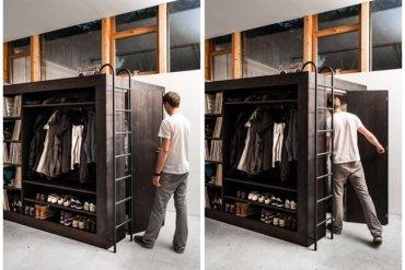 เฟอร์นิเจอร์กล่อง..มีครบทั้งตู้ เตียง ชั้นวางของ ห้องเก็บของ รวมอยู่ในชิ้นเดียว 15 - ชั้นวางของ
