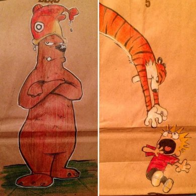 ยอดคุณพ่อนักวาด.. วาดภาพการ์ตูนบนถุงอาหารกลางวันของลูกชายทุกวันตลอด2ปี 21 - Illustrator