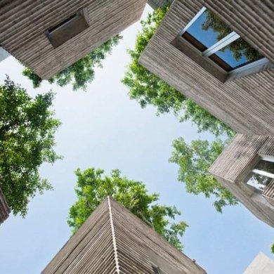 บ้านที่เหมือนกระถางต้นไม้..บ้านรางวัลชนะเลิศ AR House 2014 34 - courtyard