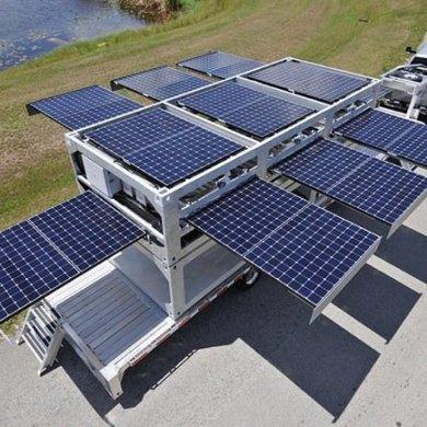 สถานีผลิตพลังงานแสงอาทิตย์ แบบเคลื่อนที่ ขนาดยักษ์ทำจากตู้คอนเทนเนอร์ 19 - solar panel