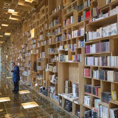 BookShop Covered in Boxes ห้องสมุดในตึกประวัติศาสตร์เก่า 16 - Library