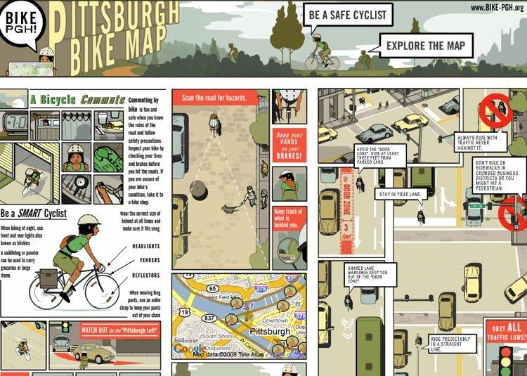 bikepghmap 8 DRIVE & RIDE WITH CARE เปลี่ยนทัศนคติของคนขับรถยนต์ที่มองคนขี่จักรยานเป็นตัวประหลาด