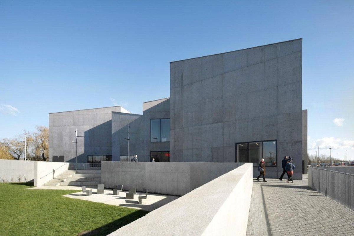 David Chipperfield Architects . Hepworth Wakefield . West Yorkshire 5 Hepworth Wakefield Gallary ดินแดงแห่งงานประติมากรรม