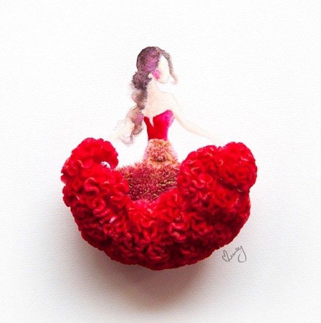20140801 193756 70676183 เมื่อกลีบดอกไม้กลายเป็นชุดสวยชวนฝัน