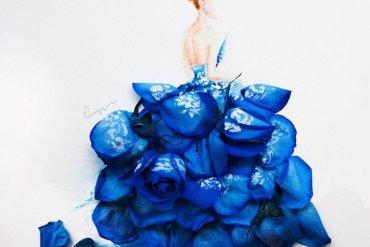 เมื่อกลีบดอกไม้กลายเป็นชุดสวยชวนฝัน 13 - กลีบดอกไม้