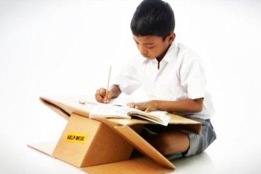 Help Desk..รีไซเคิลกระดาษกล่องใช้แล้ว เป็นทั้งโต๊ะและกระเป๋าในชิ้นเดียว 23 - รีไซเคิล