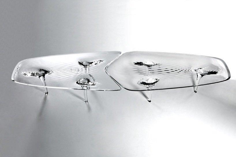IMG 4276 'liquid glacial table' โต๊ะน้ำแข็งได้ texture สวยๆของน้ำ