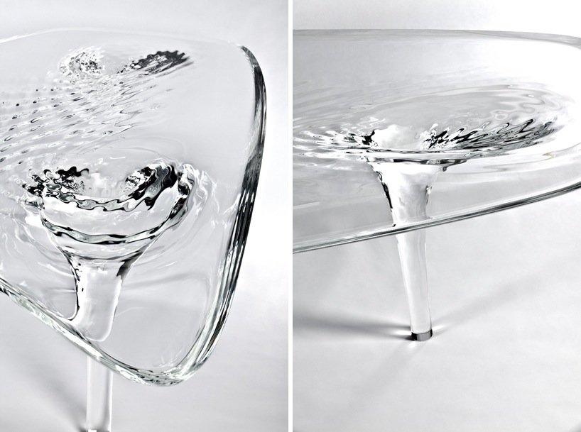 IMG 4280 'liquid glacial table' โต๊ะน้ำแข็งได้ texture สวยๆของน้ำ