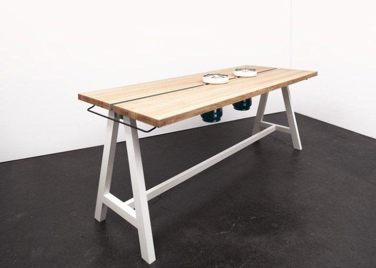 โต๊ะเรียบๆใช้ประโยชน์ได้หลายอย่าง และเปลี่ยนเป็นครัวได้ง่ายๆ  13 - ห้องครัว