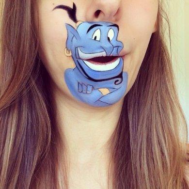 ศิลปินช่างแต่งหน้า สร้างภาพการ์ตูนให้มีชีวิตบนปากและคางของเธอ 14 - Instagram