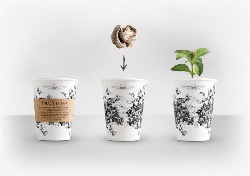 IMG 4588 ถ้วยกาแฟรักโลก รีไซเคิลขยะเป็นกระถางต้นไม้จากเมล็ดพืชฝังอยู่