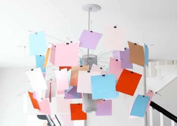 โคมไฟแชนเดอเลียร์ Zettel เปลี่ยนแปลงสนุกๆ ตามต้องการ 13 - DIY