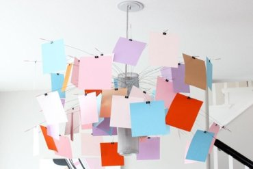 โคมไฟแชนเดอเลียร์ Zettel เปลี่ยนแปลงสนุกๆ ตามต้องการ 25 - DIY