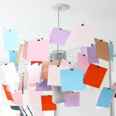 โคมไฟแชนเดอเลียร์ Zettel เปลี่ยนแปลงสนุกๆ ตามต้องการ 16 - DIY