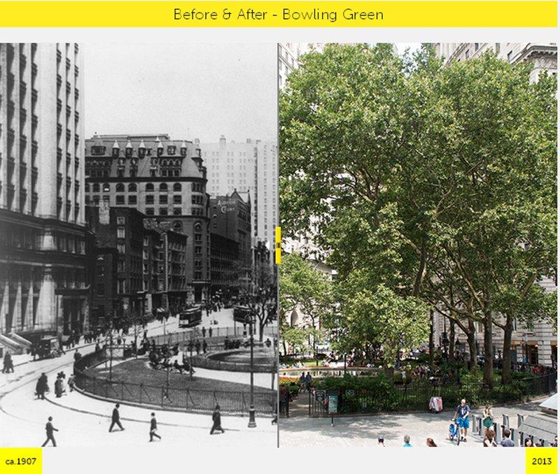 Y1 NYC GRID Before & After ภาพถ่ายเปรียบเทียบอดีต ปัจจุบัน