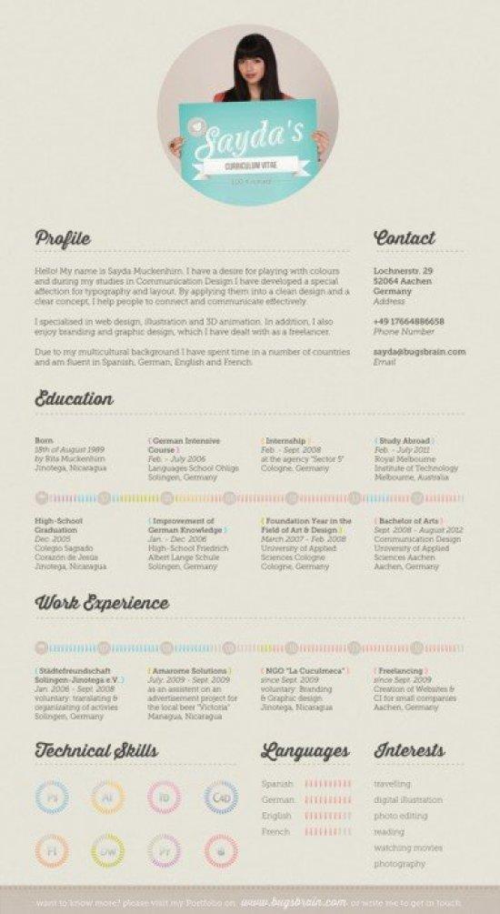 creative resume 17 10 creative cv และ resume ที่สร้างตัวเองโดดเด่น