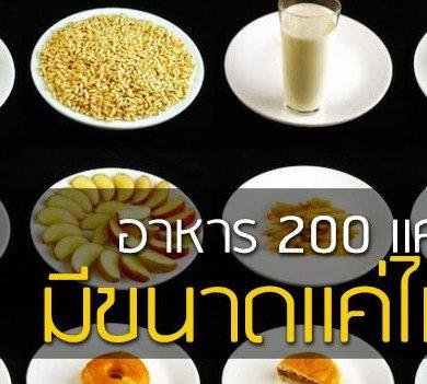 อาหาร 200 แคลลอรี่แต่ละชนิด..มีขนาดแค่ไหน 16 - ลดน้ำหนัก