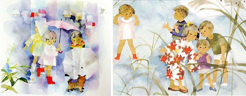 23 โต๊ะโตะจัง เด็กหญิงข้างหน้าต่าง วรรณกรรมเยาวชนกับภาพวาดประกอบสีน้ำ
