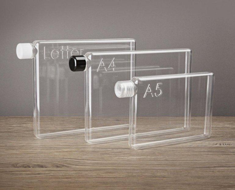 ขวดน้ำรูปร่างสี่เหลี่ยมแบนๆแบบแผ่นกระดาษ จัดเก็บในกระเป๋าสะดวก..เท่มาก! 13 - ขวดน้ำ