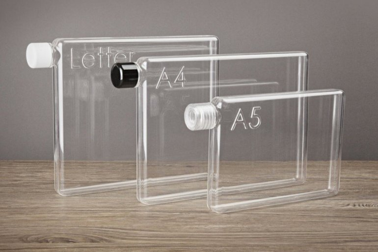 ขวดน้ำรูปร่างสี่เหลี่ยมแบนๆแบบแผ่นกระดาษ จัดเก็บในกระเป๋าสะดวก..เท่มาก! 14 - ขวดน้ำ