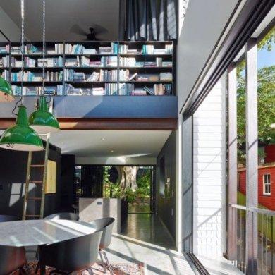 บ้านสถาปนิกในเมืองเก่า แก้ปัญหาพื้นที่จำกัดและติดถนนได้อย่างงดงามเป็นส่วนตัว 14 - คอนกรีต