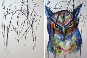 ศิลปินเปลี่ยนภาพขีดเขียนเลอะๆของลูกสาววัย2ขวบ เป็นงานศิลปะ 21 - ACTIVITY