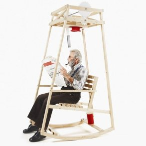 'Rocking Knit' เก้าอี้โยก..ถักไหมพรมให้ระหว่างนั่งโยก 14 - rocking chair