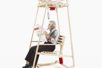 'Rocking Knit' เก้าอี้โยก..ถักไหมพรมให้ระหว่างนั่งโยก 8 - rocking chair