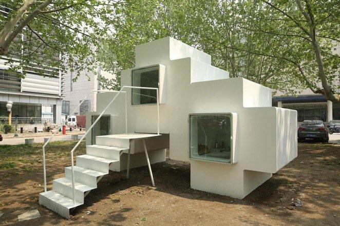 IMG 5343 Micro House บ้านขนาดจิ๋วที่ยกย้ายและวางซ้อนต่อกันได้
