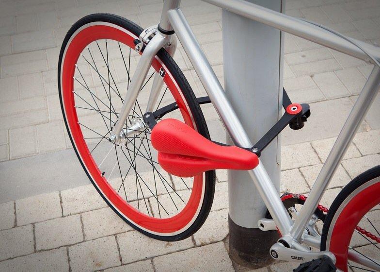 ที่นั่งจักรยาน ที่ทำหน้าที่เป็นโซ่ล็อก และที่เก็บไปในตัว 13 - Kickstarter