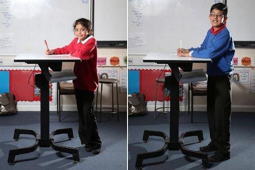 IMG 6007 ยืนเรียน..แก้ปัญหาเด็กอ้วน แล้วยังได้สมาธิในการเรียน