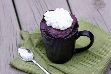 Microwave Nutella mug cake