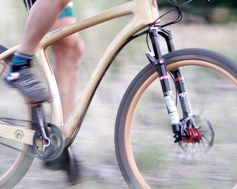connor wood bikes durt mountain bike2 จักรยานเฟรมไม้ Connor Wood Bicycles
