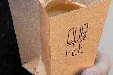 CUP.FEE ดีไซน์ฉลาดๆของถ้วยกระดาษใช้แล้วทิ้ง ที่ช่วยให้พื้นที่ขยะลดลง