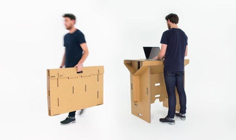 Cardboard Desk..โต๊ะจากกล่องกระดาษ 100%รีไซเคิล 13 - cardboard