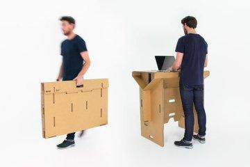 Cardboard Desk..โต๊ะจากกล่องกระดาษ 100%รีไซเคิล 2 - cardboard