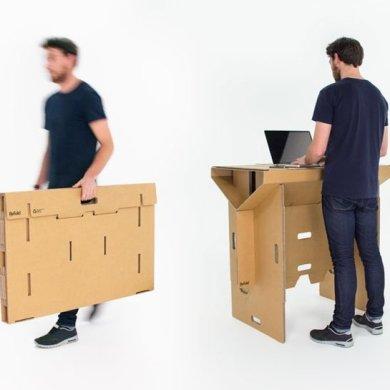 Cardboard Desk..โต๊ะจากกล่องกระดาษ 100%รีไซเคิล 19 - cardboard