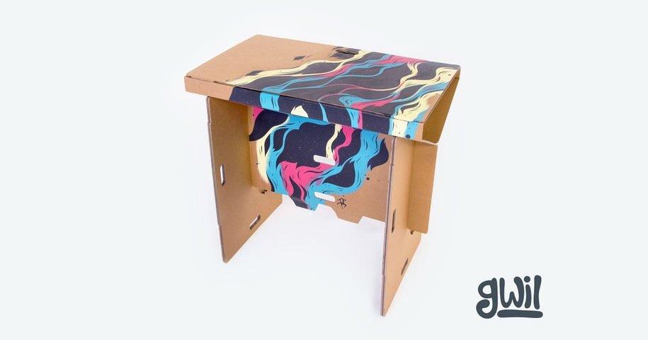 IMG 6409 Cardboard Desk..โต๊ะจากกล่องกระดาษ 100%รีไซเคิล