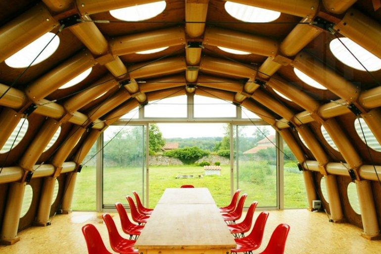 Paper Pavilion โครงสร้างจากแกนกระดาษรีไซเคิล 19 - Environment