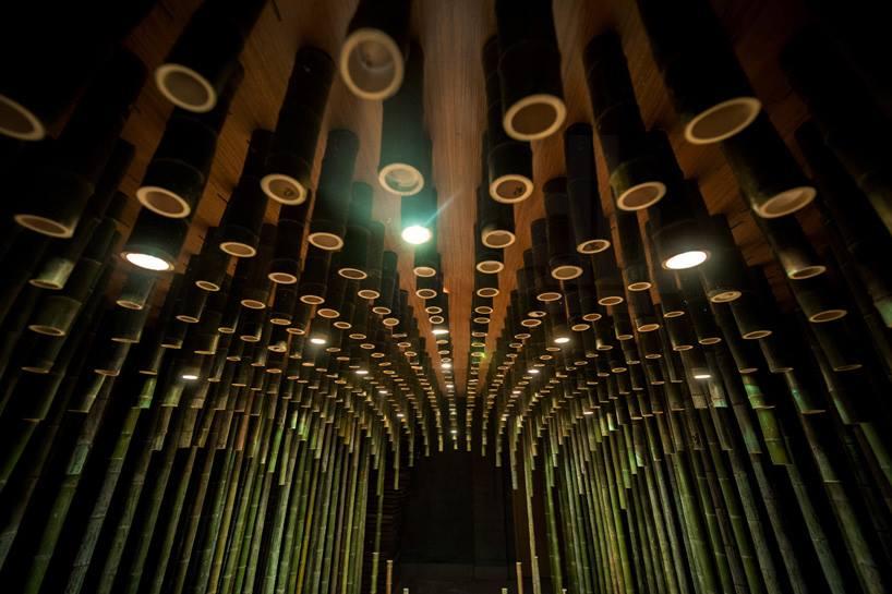 Bamboo 02 จิตสันติและสงบในห้องดื่มน้ำชา อารมณ์ไผ่และดอกบัวไม้