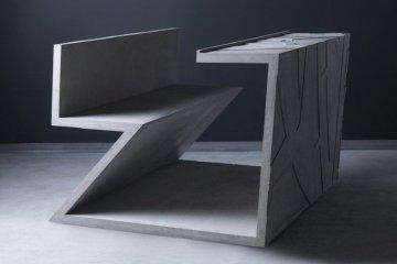โต๊ะซีเมนต์ ออกแนวกราฟฟิคโดย  Libeskind สำหรับแบรนด์  Moroso 10 - Art & Design