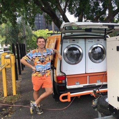 รถซักผ้าเคลื่อนที่..เพื่อผู้ไร้บ้าน 14 - homeless